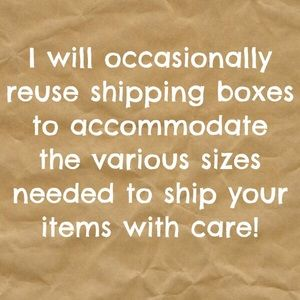 Other - ♻️I Reuse Boxes♻️